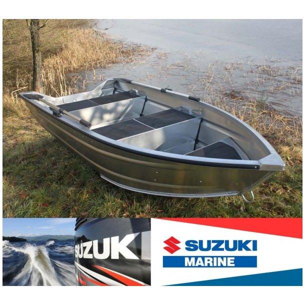 Rask SÆTPRIS - AQUARIB 3000 Jolle med 2,5 hk Suzuki 4-takt påhængsmotor HZ-22